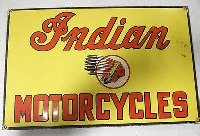 PORCELAIN SIGN INDIAN MOTORCYCLES 19