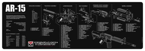 AR-15 and M-16 Gun Cleaning and Parts Mat