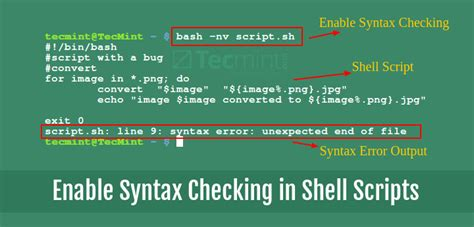 How to Perform Syntax Checking Debugging Mode in Shell Scripts