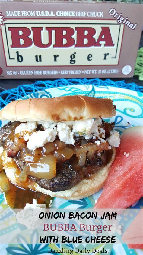 BUBBA Burgers – Onion Bacon Jam Burger With Blue Cheese
