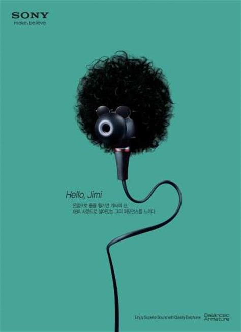 Impersonating Earbud Ads : sony earphone campaign