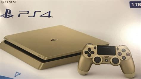 Gold PS4 Slim reportedly releasing next week