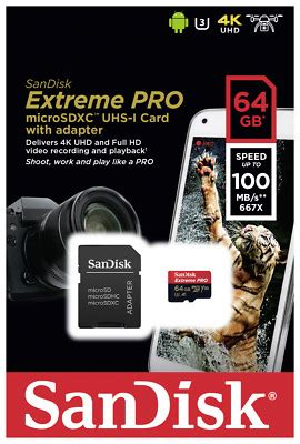 2 new Sandisk 64GB Ultra Micro SD SDXC Card UHS-I A1